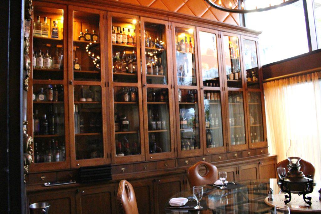 Jeff Ruby's liquor cabinet