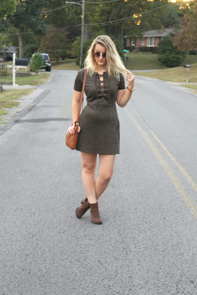 suede lulus dress