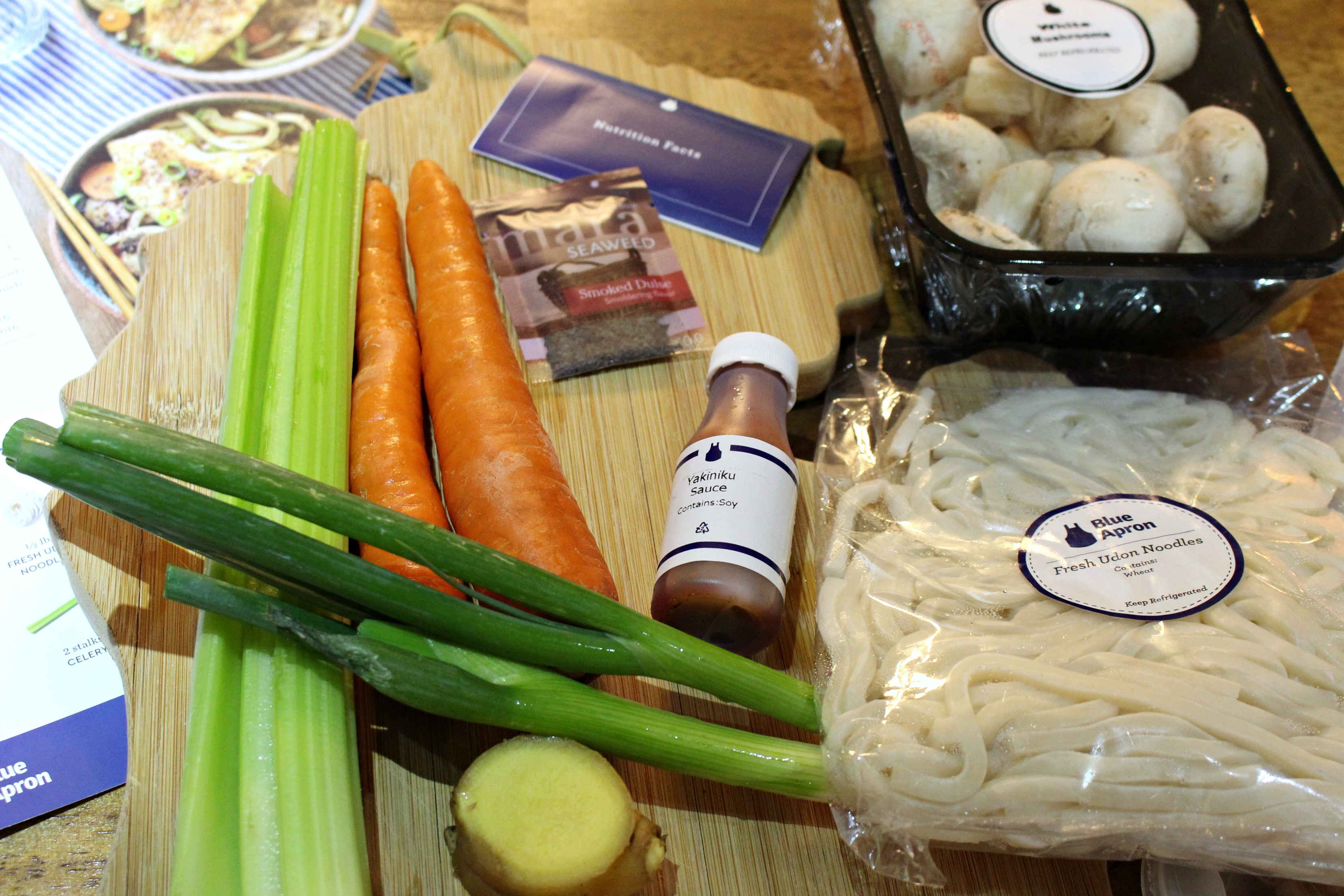 saving time cooking with blue apron